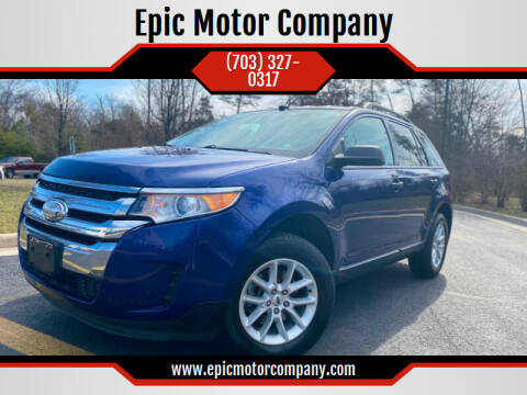 2013 Ford Edge for sale at Epic Motor Company in Chantilly VA