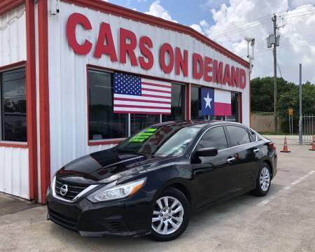 2016 Nissan Altima for sale at Cars On Demand 2 in Pasadena TX