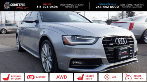 2016 Audi A4 for sale at Quattro Motors 2 - 1 in Redford MI