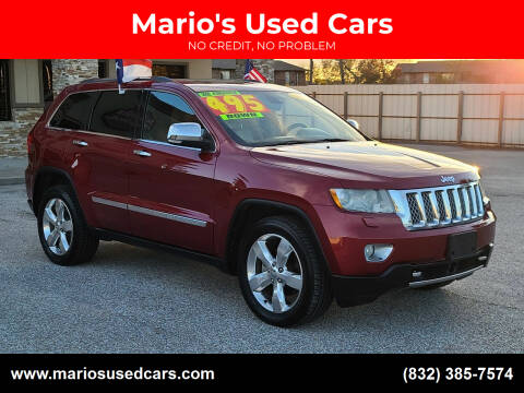 2013 Jeep Grand Cherokee for sale at Mario's Used Cars in Houston TX