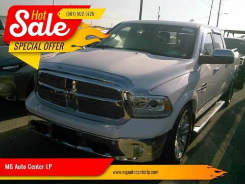 2015 RAM Ram Pickup 1500 for sale at MG Auto Center LP in Lake Park FL