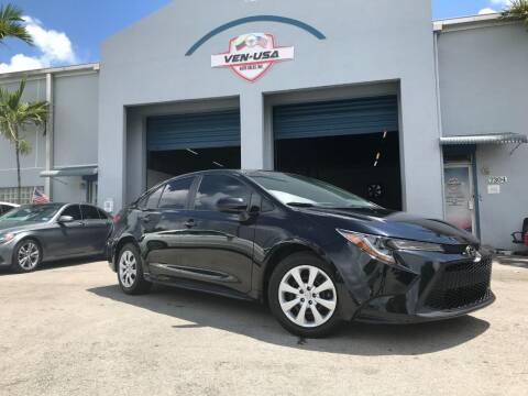 2020 Toyota Corolla for sale at Ven-Usa Autosales Inc in Miami FL