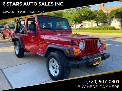2005 Jeep Wrangler for sale at 6 STARS AUTO SALES INC in Chicago IL