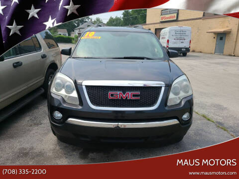 2010 GMC Acadia for sale at MAUS MOTORS in Hazel Crest IL
