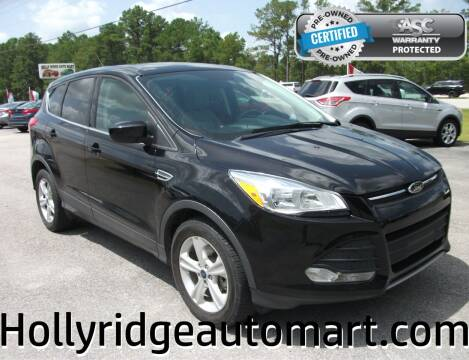 2016 Ford Escape for sale at Holly Ridge Auto Mart in Holly Ridge NC