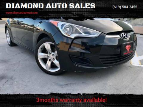 2013 Hyundai Veloster for sale at DIAMOND AUTO SALES in El Cajon CA
