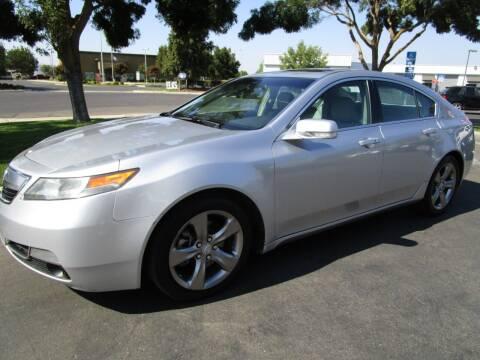 2012 Acura TL for sale at KM MOTOR CARS in Modesto CA
