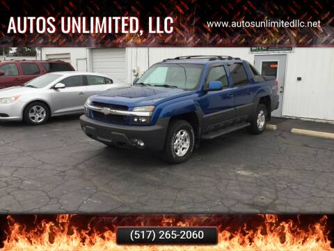2003 Chevrolet Avalanche for sale at Autos Unlimited, LLC in Adrian MI