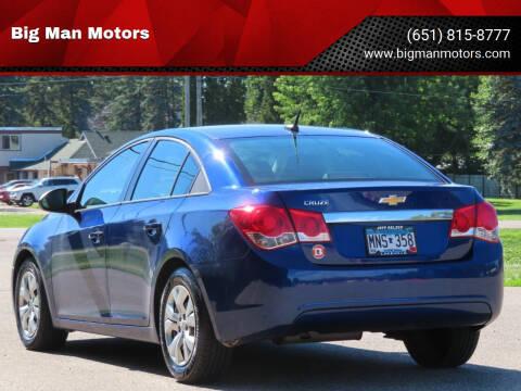 2013 Chevrolet Cruze for sale at Big Man Motors in Farmington MN