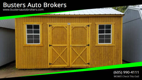 2021 Old Hickory Building 10 X 16 Side Utility W/8FT Sid for sale at Busters Auto Brokers in Mitchell SD
