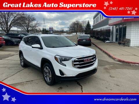 2018 GMC Terrain for sale at Great Lakes Auto Superstore in Pontiac MI