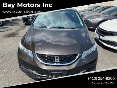 2013 Honda Civic for sale at Bay Motors Inc in Baltimore MD
