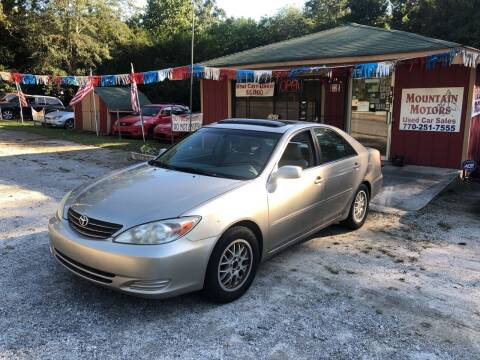 2002 Toyota Camry for sale at Mountain Motors in Newnan GA