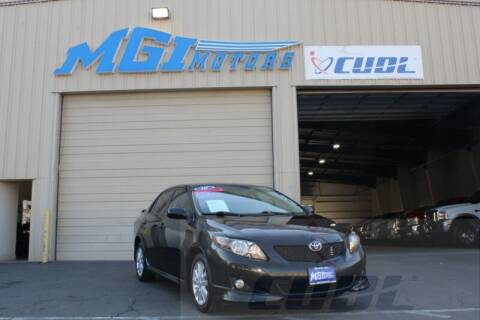 2010 Toyota Corolla for sale at MGI Motors in Sacramento CA