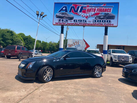 2013 Cadillac CTS-V for sale at ANF AUTO FINANCE in Houston TX