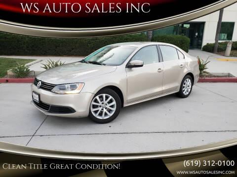 2013 Volkswagen Jetta for sale at WS AUTO SALES INC in El Cajon CA