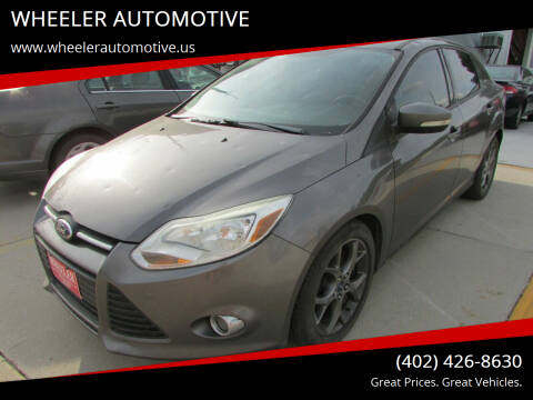 2013 Ford Focus for sale at WHEELER AUTOMOTIVE in Blair NE