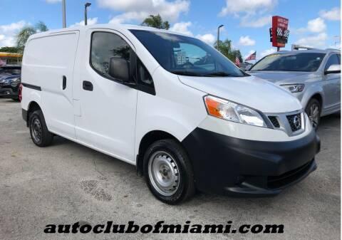 2015 Nissan NV200 for sale at AUTO CLUB OF MIAMI, INC in Miami FL