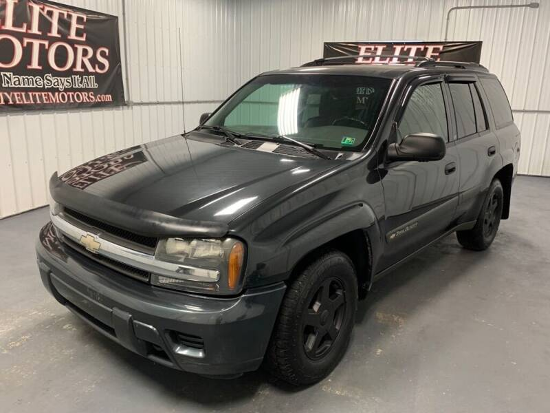 2003 Chevrolet TrailBlazer for sale at Elite Motors in Uniontown PA