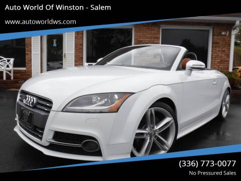2013 Audi TTS for sale at Auto World Of Winston - Salem in Winston Salem NC