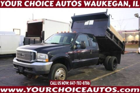 2002 Ford F-550 Super Duty for sale at Your Choice Autos - Waukegan in Waukegan IL