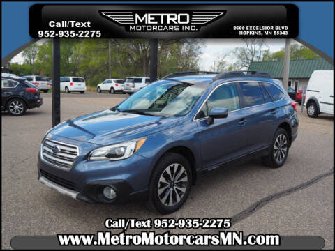 2015 Subaru Outback for sale at Metro Motorcars Inc in Hopkins MN
