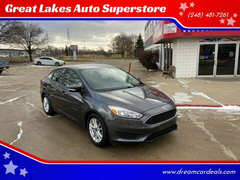2016 Ford Focus for sale at Great Lakes Auto Superstore in Pontiac MI