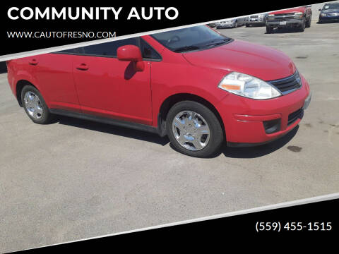 2011 Nissan Versa for sale at COMMUNITY AUTO in Fresno CA