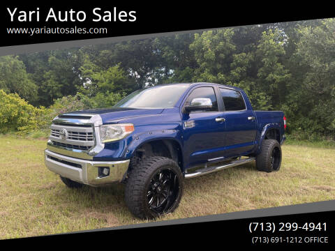 2015 Toyota Tundra for sale at Yari Auto Sales in Houston TX