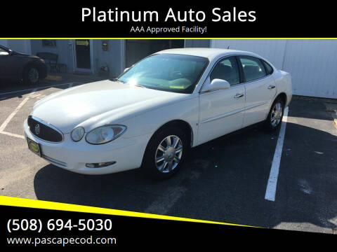 2006 Buick LaCrosse for sale at Platinum Auto Sales in South Yarmouth MA