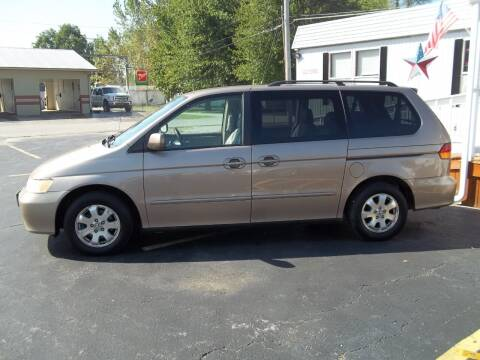 2003 Honda Odyssey for sale at R V Used Cars LLC in Georgetown OH