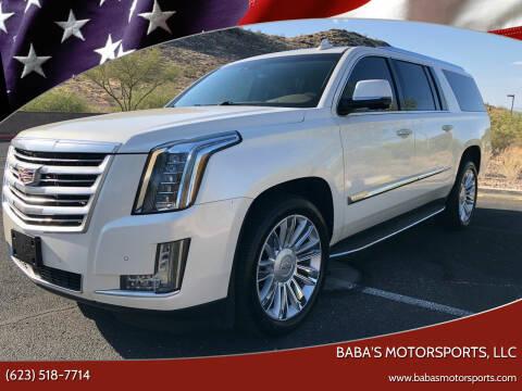 2015 Cadillac Escalade ESV for sale at Baba's Motorsports, LLC in Phoenix AZ