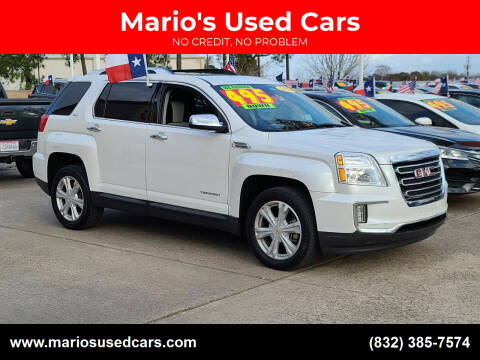 2016 GMC Terrain for sale at Mario's Used Cars in Houston TX