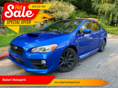 2017 Subaru WRX for sale at Mudarri Motorsports in Kirkland WA
