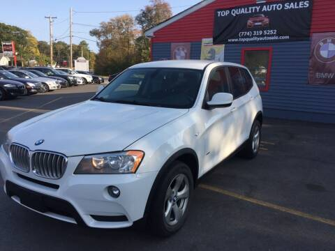 2012 BMW X3 for sale at Top Quality Auto Sales in Westport MA