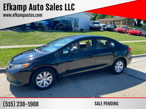 2012 Honda Civic for sale at Efkamp Auto Sales LLC in Des Moines IA