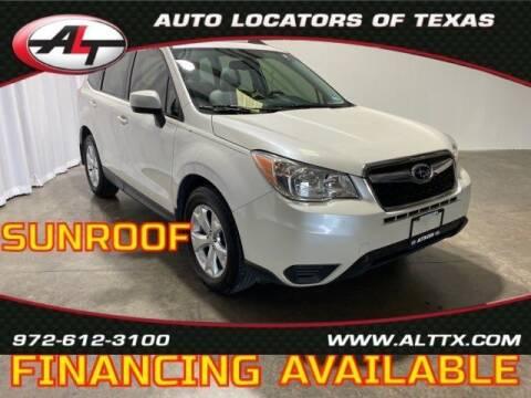 2015 Subaru Forester for sale at AUTO LOCATORS OF TEXAS in Plano TX