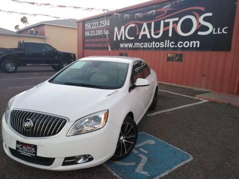 2016 Buick Verano for sale at MC Autos LLC in Pharr TX