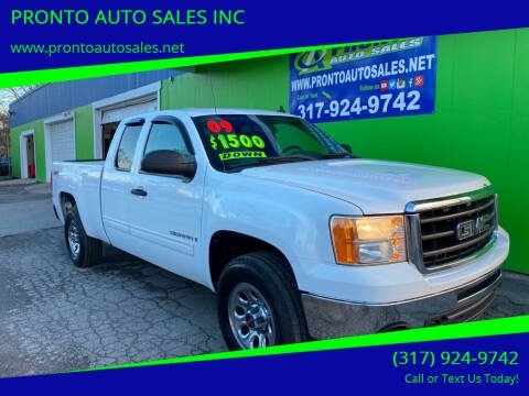 2009 GMC Sierra 1500 for sale at PRONTO AUTO SALES INC in Indianapolis IN