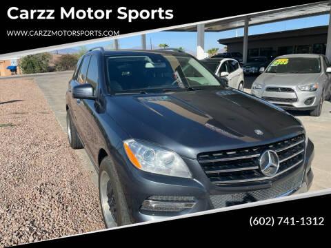2013 Mercedes-Benz M-Class for sale at Carzz Motor Sports in Fountain Hills AZ