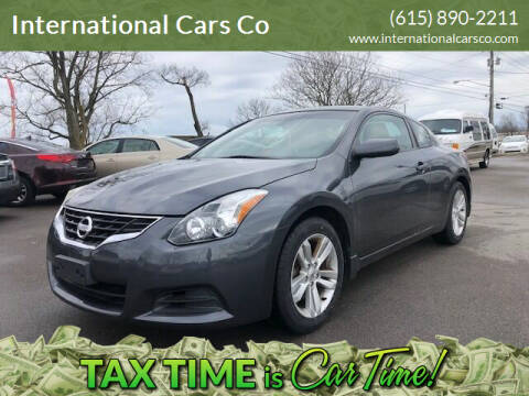 2010 Nissan Altima for sale at International Cars Co in Murfreesboro TN