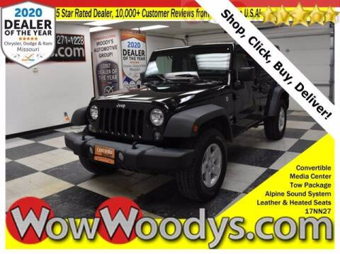 2017 Jeep Wrangler Unlimited for sale at WOODY'S AUTOMOTIVE GROUP in Chillicothe MO