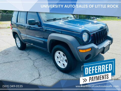 2003 Jeep Liberty for sale at University Auto Sales of Little Rock in Little Rock AR