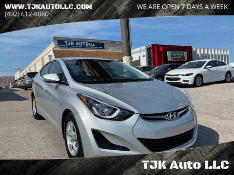 2014 Hyundai Elantra for sale at TJK Auto LLC in Omaha NE