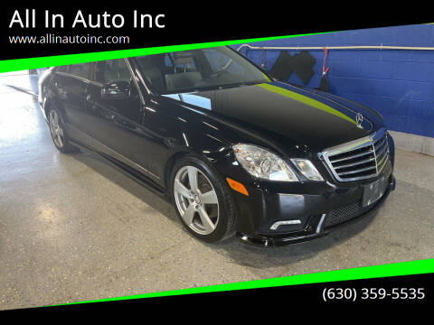 2011 Mercedes-Benz E-Class for sale at All In Auto Inc in Palatine IL