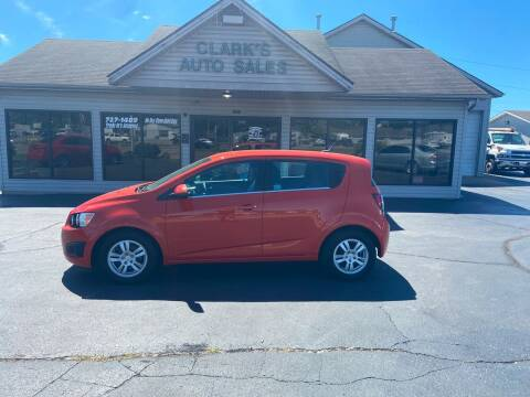 2012 Chevrolet Sonic for sale at Clarks Auto Sales in Middletown OH