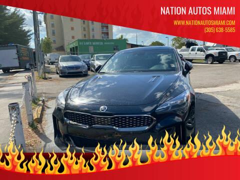 2019 Kia Stinger for sale at Nation Autos Miami in Hialeah FL