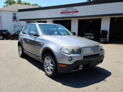 2008 BMW X3 for sale at Landes Family Auto Sales in Attleboro MA