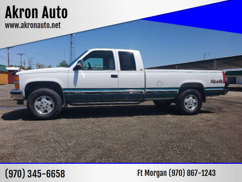 1994 Chevrolet C/K 1500 Series for sale at Akron Auto - Fort Morgan in Fort Morgan CO