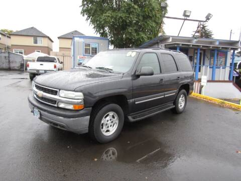 2004 Chevrolet Tahoe for sale at ARISTA CAR COMPANY LLC in Portland OR